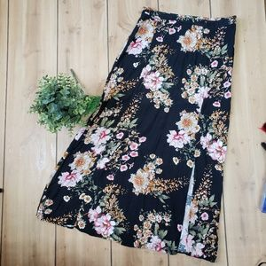 Anthro Maeve floral print skirt